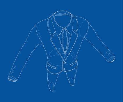 Male elegant suit. Vector