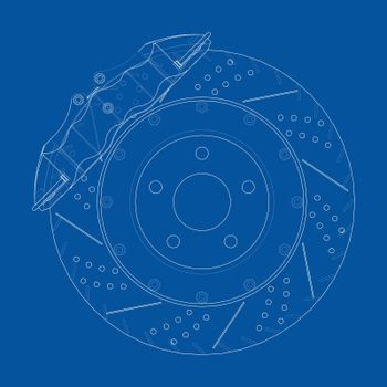 Brake disc outline. Vector