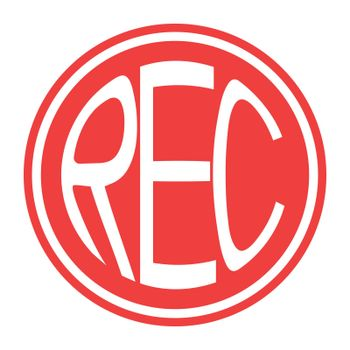 Round red icon rec button vector record button with text rec