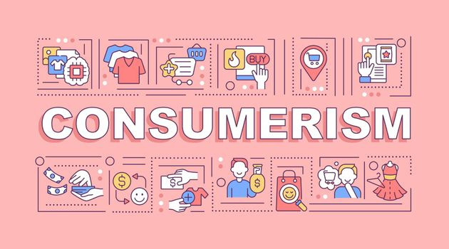 Consumerism word concepts banner