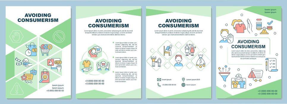 Avoiding consumerism brochure template