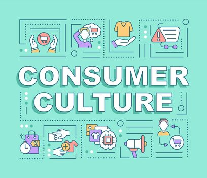 Consumer culture word concepts banner
