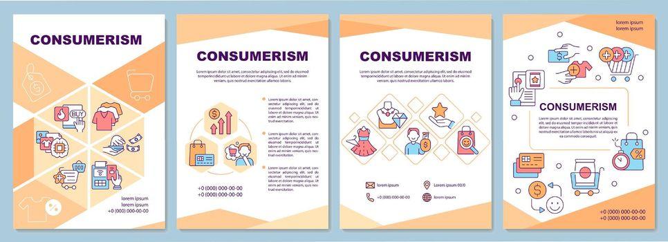 Consumerism brochure template