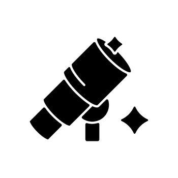 Telescope black glyph icon