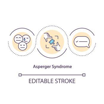 Asperger syndrome concept icon