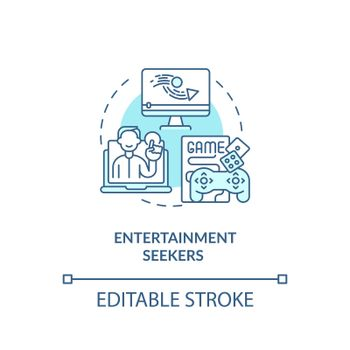 Entertainment seekers concept icon