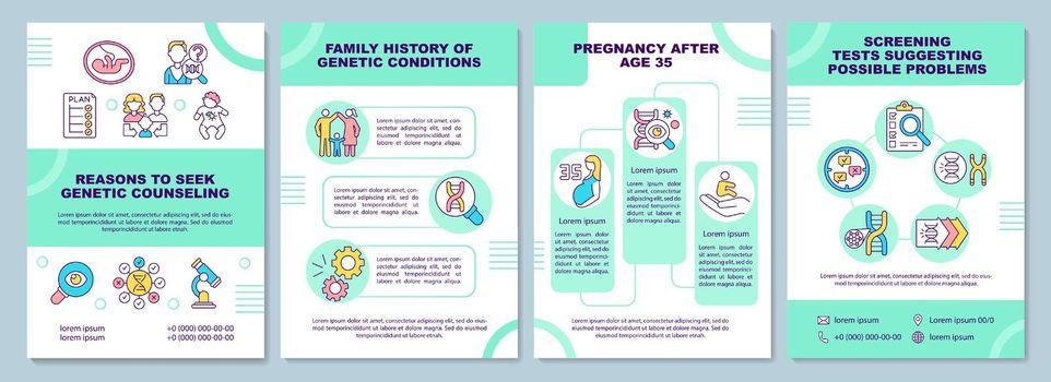 Reasons to seek genetic counseling brochure template