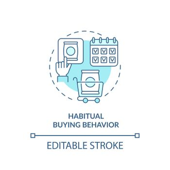 Habitual buying behavior concept icon