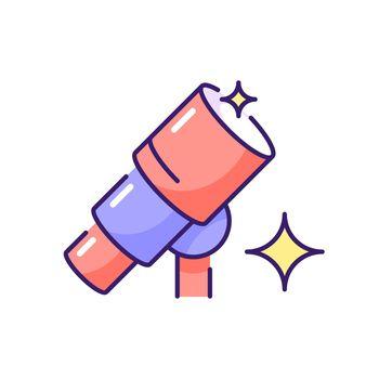 Telescope RGB color icon