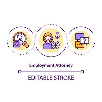 Employment attorney concept icon