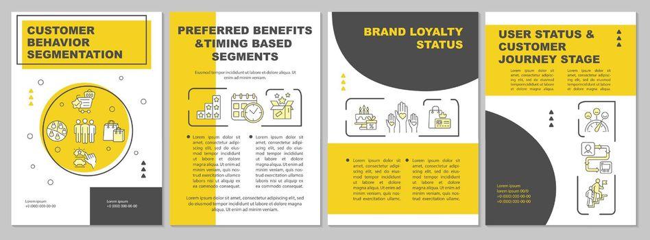 Customer behavior segmentation brochure template