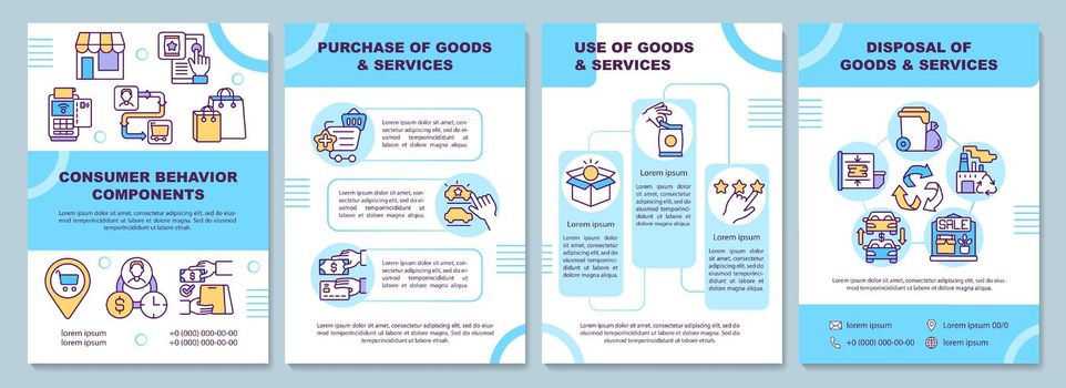 Consumer behavior components brochure template