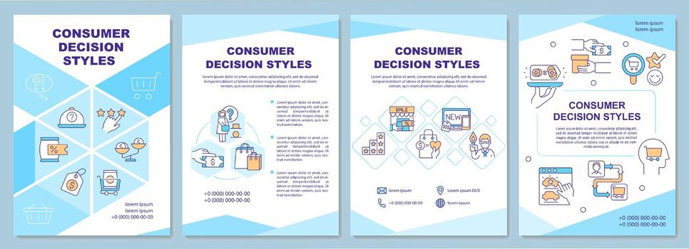 Consumer decision styles brochure template