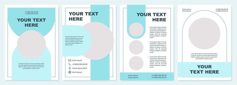 Creative educational brochure template