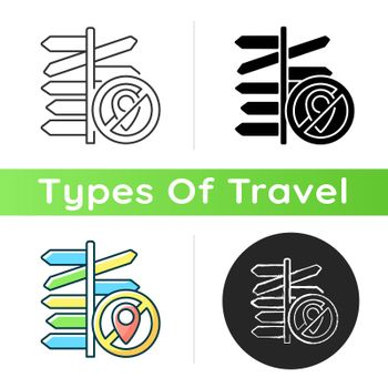 No destination travel icon