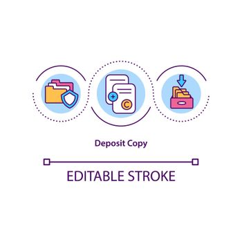 Deposit copy concept icon