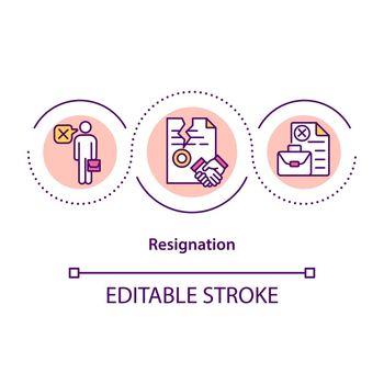 Resignation concept icon