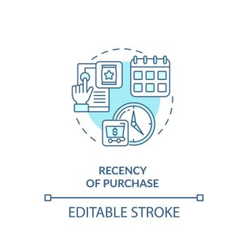 Purchase recency concept icon
