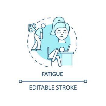 Fatigue concept icon