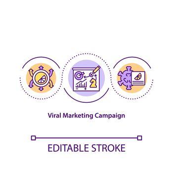 Viral marketing campaign concept icon