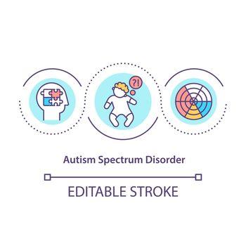 Autism spectrum disorder concept icon