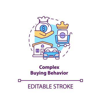 Complex buying behavior concept icon