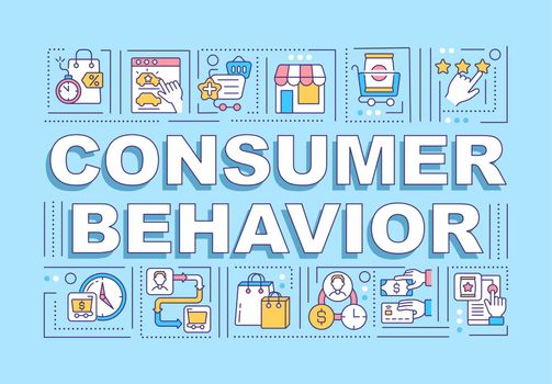 Consumer behavior word concepts banner