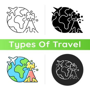 Disaster travel icon
