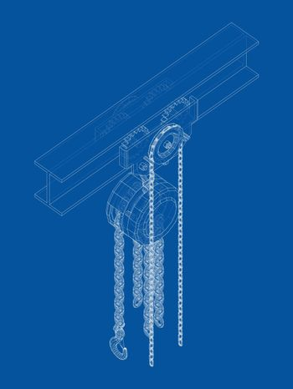 A Hoist on the beam. Vector