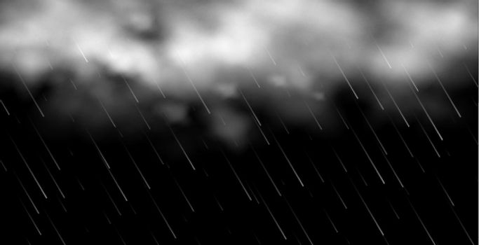 3d clouds with rainfall background