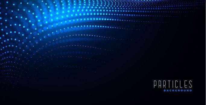 digital particles dynamic background design