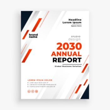 modern company annual report business red template