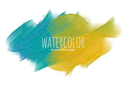 blue and yellow abstract watercolor texture background