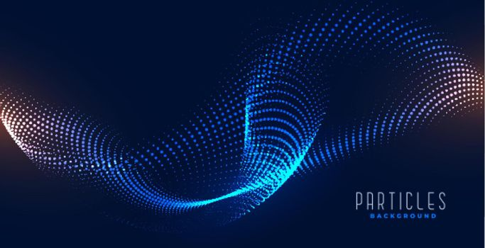 flowing digital particle abstract wave background