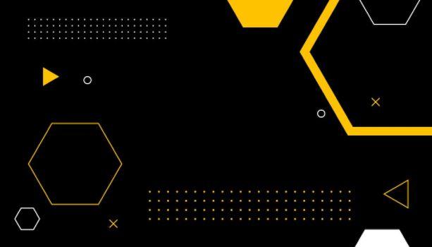 hexagonal memphis style background design