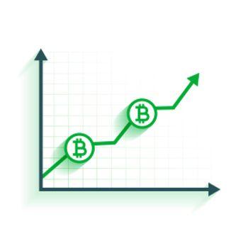 bitcoin growth chart background design