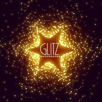 glowing sparkles star burst background