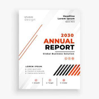 modern annual report flyer business brochure template