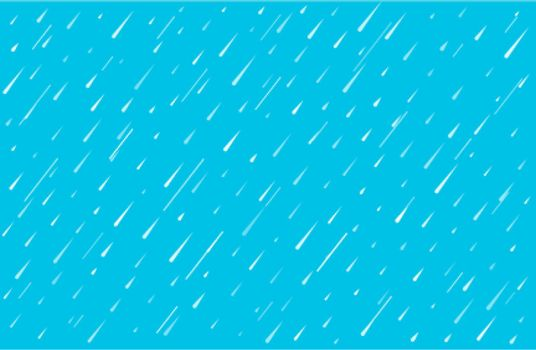rainfall water drops on blue background