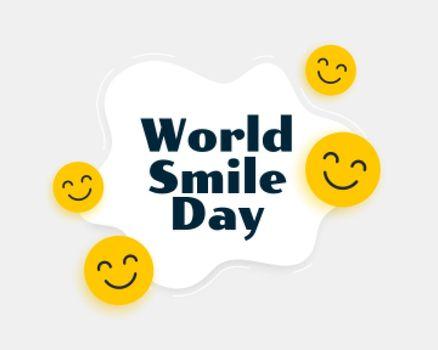 world smile day smiley background