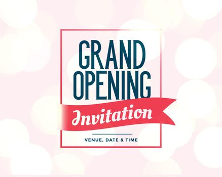 grand opening invitation template with event details