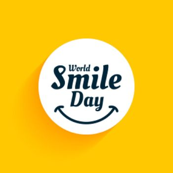 world smile day yellow background