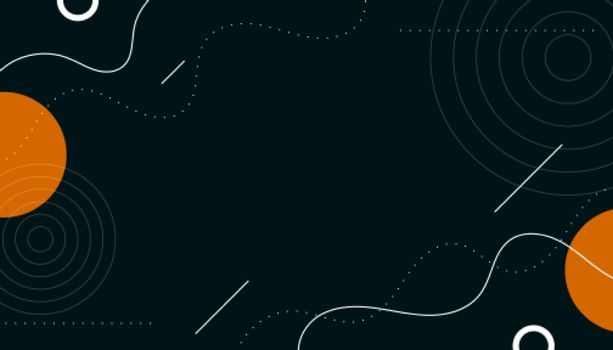 abstract memphis background with circles and lines shapes