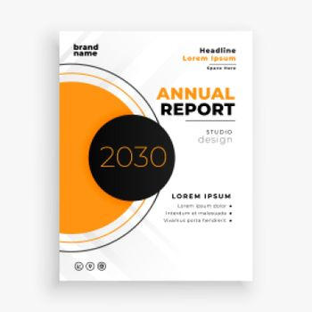 abstract annual report brochure flyer template design