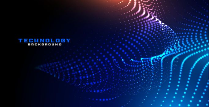abstract digital dynamic particles background