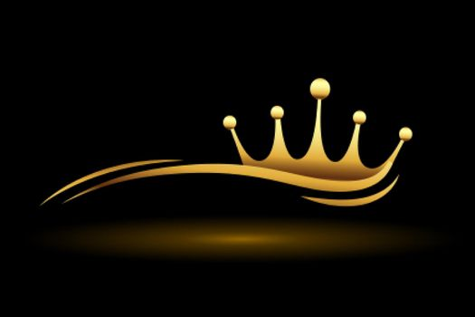 golden crown with wave line