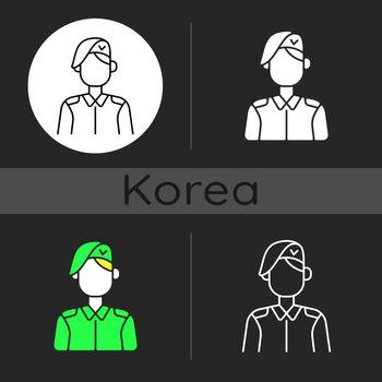 Korean military dark theme icon