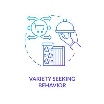 Variety seeking behavior concept icon