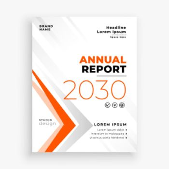 annual report business brochure flyer clean design