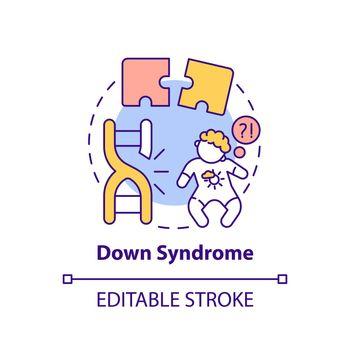 Down syndrome concept icon